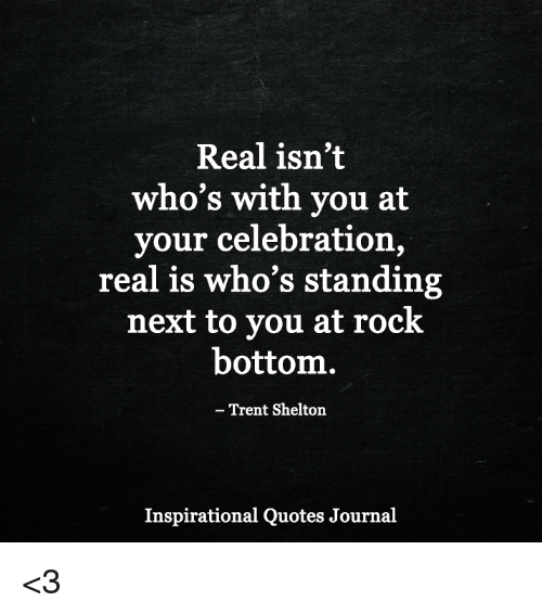 Trent Shelton Quotes | Real Isn T Who S With You At Your Celebration Real Is Who S Standing