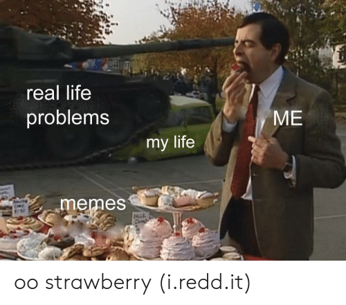Life, Memes, and Life Memes: real life  problems  ME  my life  memes oo strawberry (i.redd.it)