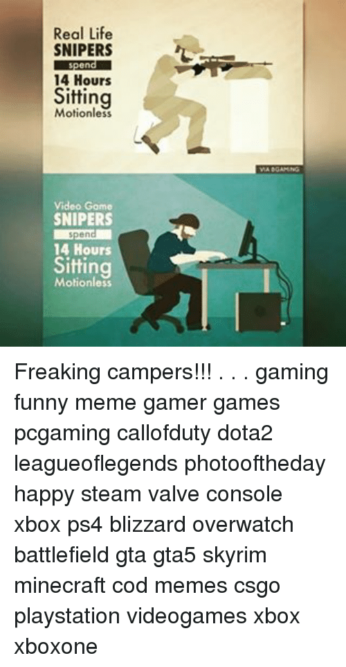 real life snipers spend 14 hours sitting video game snipers 18615966 ✅ 25 best memes about good luck memes good luck memes