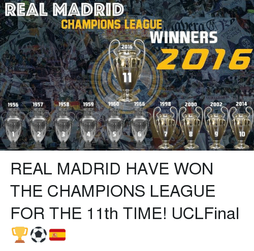 Real Madrid Soccer And Champions League REAL MADRID CHAMPIONS LEAGUE WINNERS 2016 2D76