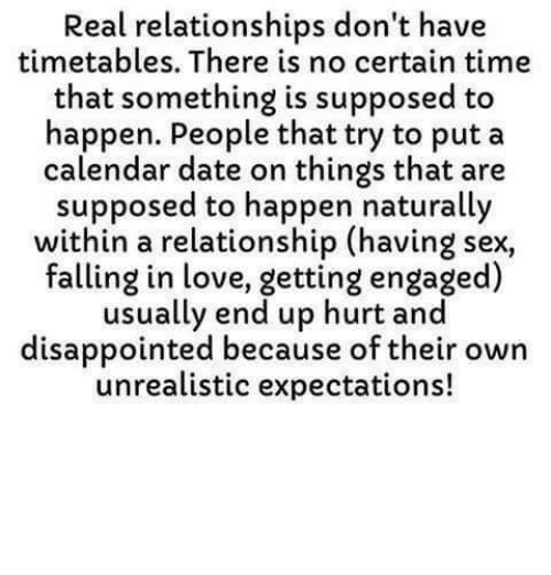 No expectations no disappointments relationships dating