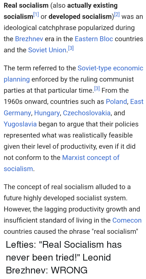 Real Socialism Also Actually Existing Socialism1 or