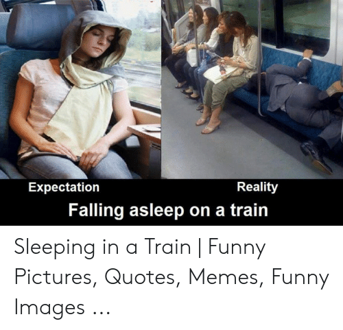 Reality Expectation Falling Asleep On A Train Sleeping In A Train