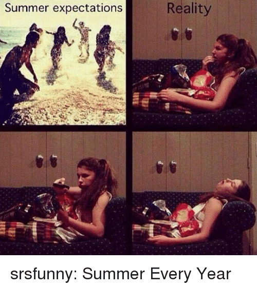 Tumblr, Summer, and Blog: Reality  Summer expectations srsfunny:  Summer Every Year