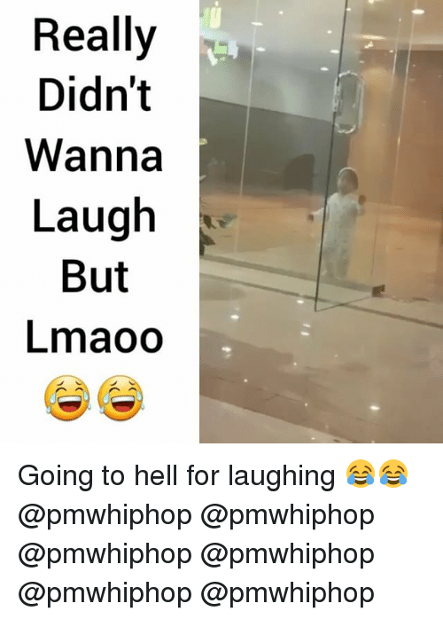 Memes, Hell, and 🤖: Really  Didn't  Wanna  Laugh  But  Lmaoo Going to hell for laughing 😂😂 @pmwhiphop @pmwhiphop @pmwhiphop @pmwhiphop @pmwhiphop @pmwhiphop
