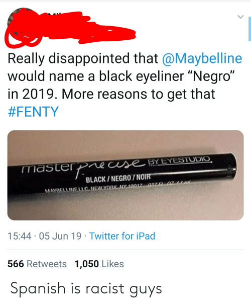 f4b81eb476c Disappointed, Facepalm, and Ipad: Really disappointed that @Maybelline  would name a black