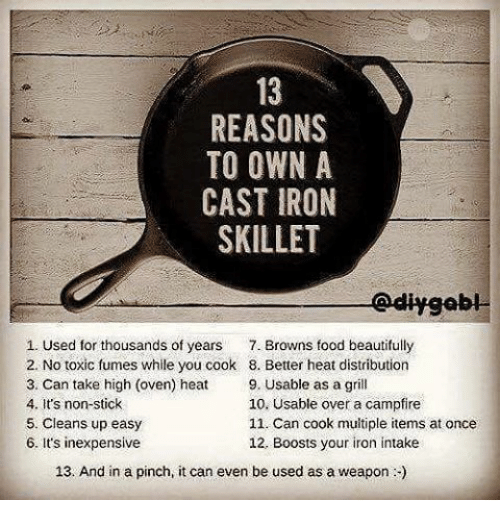REASONS TO OWN a CAST IRON SKILLET Edly 1 Used for Thousands