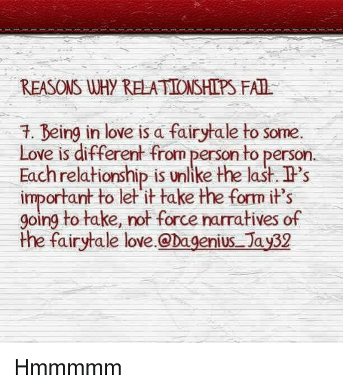 Why Do Some Relationships Fail