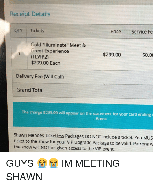 shawn mendes meet and greet packages