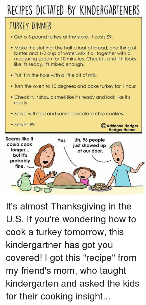 recipes dictated by kindergarteners turkey dinner get a 5 pound turkey 7248045 recipes dictated by kindergarteners turkey dinner get a 5 pound