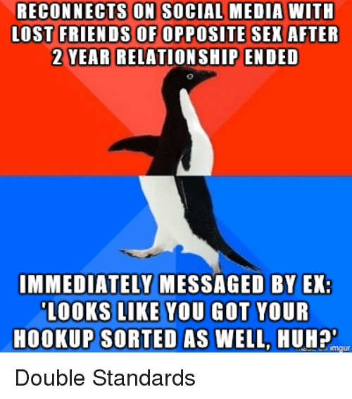 Double standards for opposite sex friends