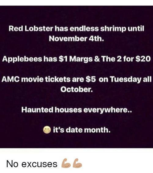 Red Lobster Has Endless Shrimp Until November 4th Applebees Has 1