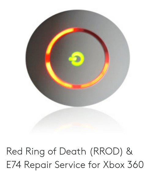 Red Ring of Death RROD & E74 Repair Service for Xbox 360