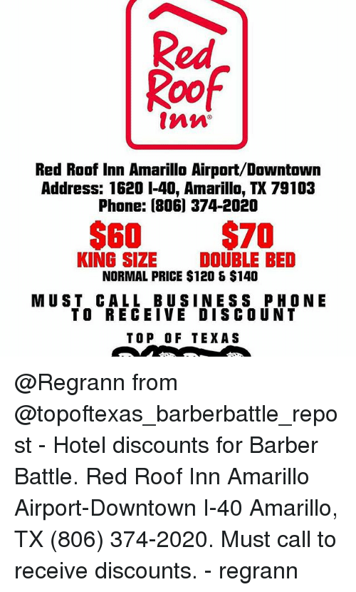 Barber, Memes, And Phone: Red Roof Red Roof Inn Amarillo Airport/Downtown