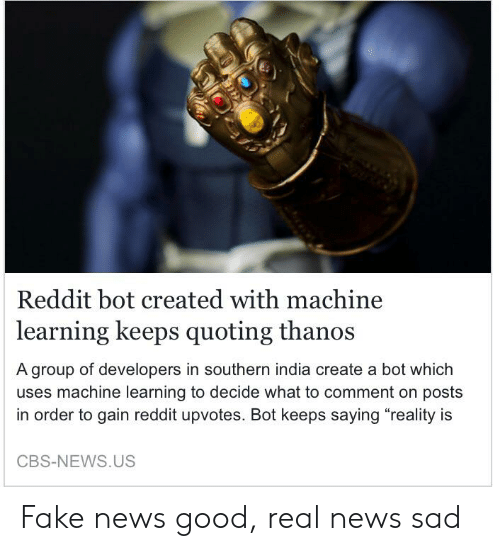 Reddit Bot Created With Machine Learning Keeps Quoting