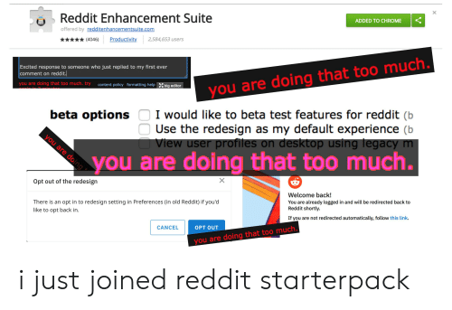 Reddit Enhancement Suite ADDED TO CHROME Offered by