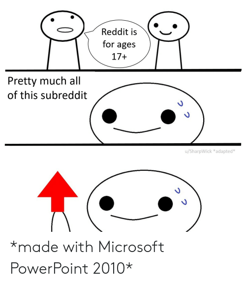 Reddit Is for Ages 17+ Pretty Much All of This Subreddit