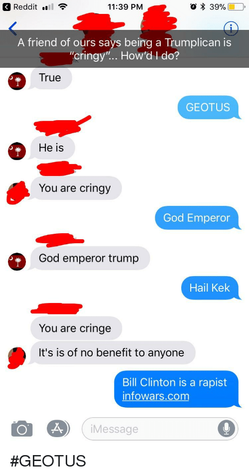 Redditl 1139 PM a Friend of Ours Says Being a Trumplican Is Cringy