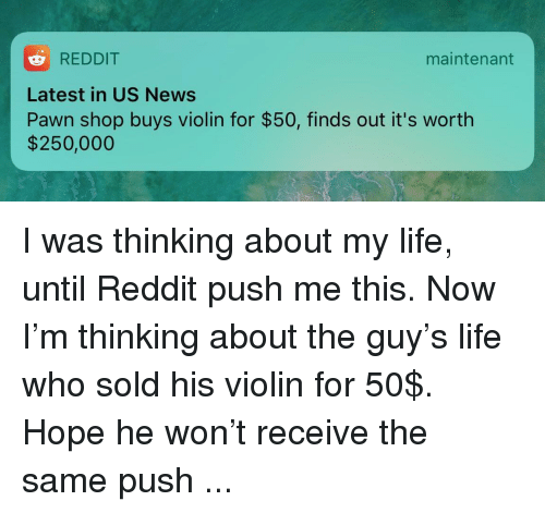 REDDIT Latest in US News Pawn Shop Buys Violin for $50 Finds Out