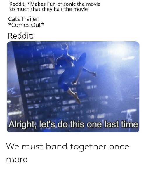 Reddit *Makes Fun of Sonic the Movie So Much That They Halt