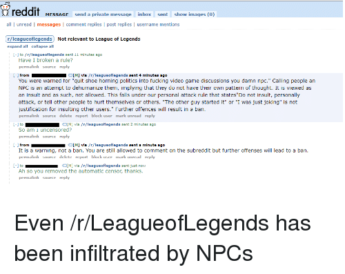 """Fucking, League of Legends, and Politics: reddit MES.ACK anda prkeata masson Inboentshow imases10)  all unread 