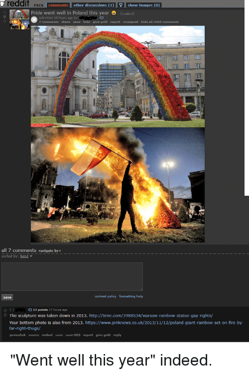 Reddit PICS Comments Other Discussions 1show Images 0 Pride Went