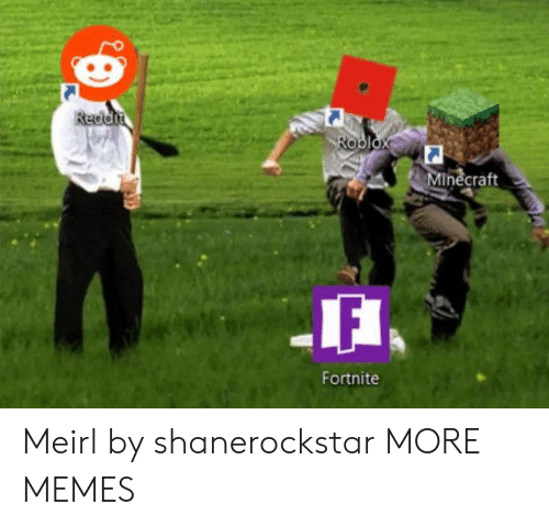 Reddit Roblox Minecraft Fortnite Meirl By Shanerockstar More Memes