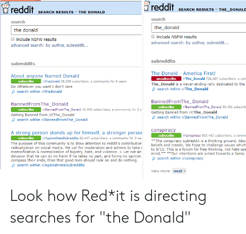 Reddit SEARCH RESULTS THE DONALD Reddit SEARCH RESULTS - THE
