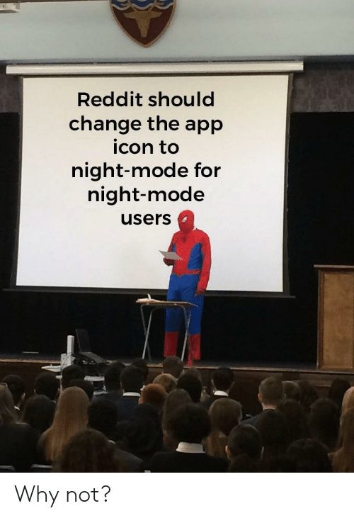 Reddit Should Change the App Icon to Night-Mode for Night