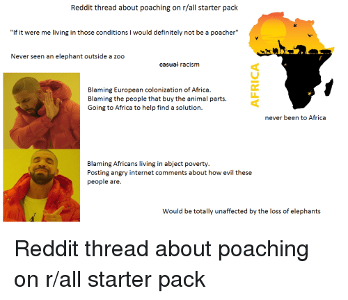 Reddit Thread About Poaching on Rall Starter Pack if It Were Me
