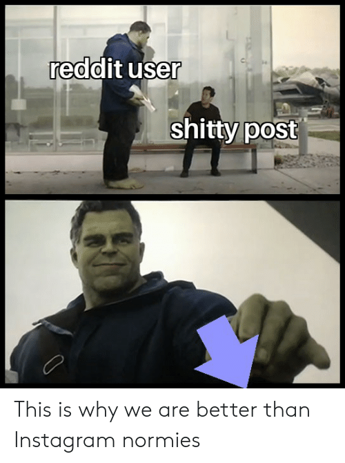 Reddit User Shitty Post This Is Why We Are Better Than