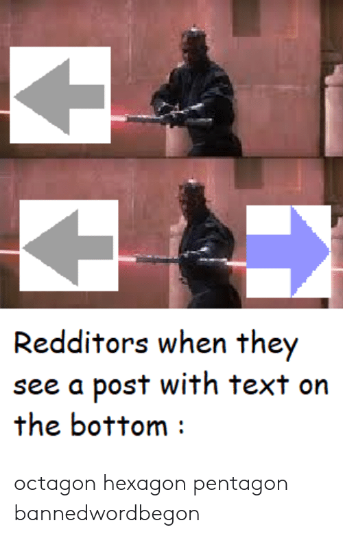 Redditors When They See a Post With Text on the Bottom