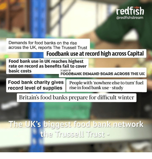 Redfish Aredfishstream Demands for Food Banks on the Rise