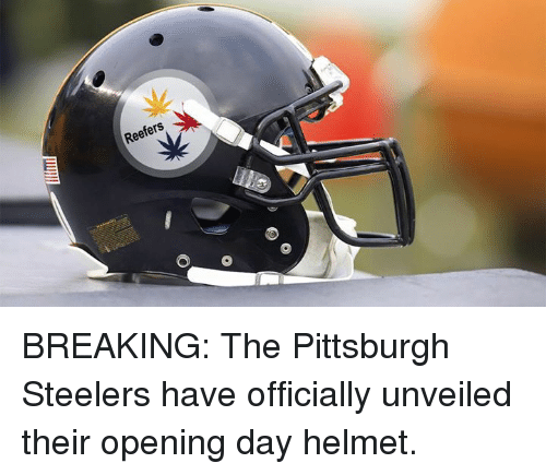 Pittsburgh Steelers, Pittsburgh, and Steelers: Reefers BREAKING: The Pittsburgh Steelers have officially unveiled their opening day helmet.