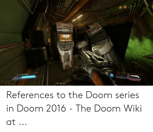 References to the Doom Series in Doom 2016 - The Doom Wiki at | Wiki