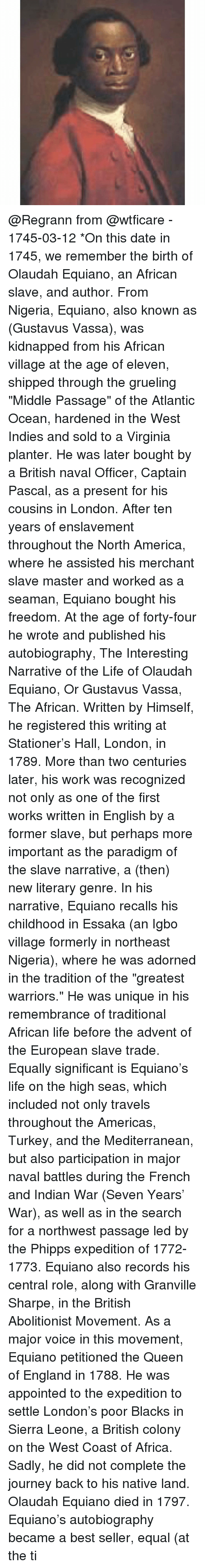 olaudah equiano freedom for forty english pounds (over 3,000 genuine documents and artifacts) slavery in the united states was the legal institution of human chattel enslavement, primarily of africans and african americans, that existed in the united states of 3-6-2015 original, unproduced short scripts olaudah equiano freedom for forty.