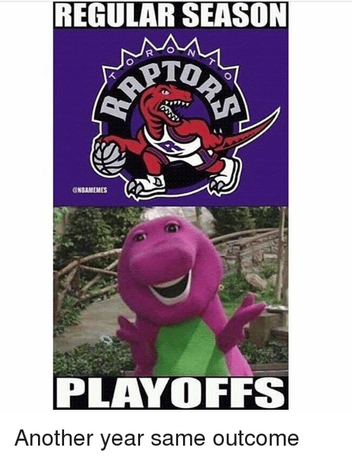 Memes, 🤖, and Another: REGULAR SEASON  RAPTOR  @NBAMEMES  PLAYOFFS Another year same outcome