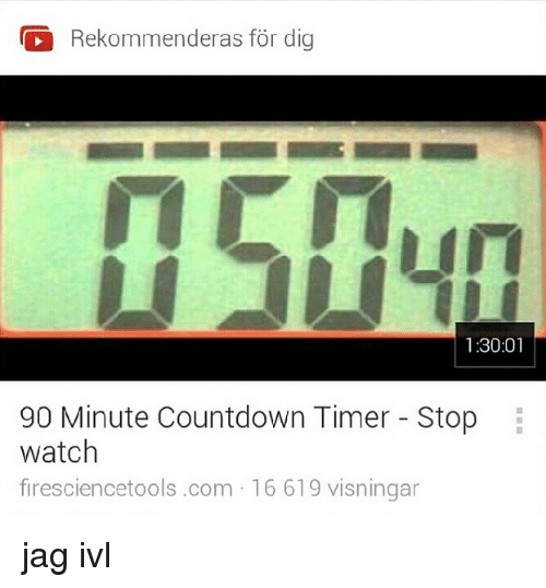 Rekommenderas for Dig 13001 90 Minute Countdown Timer Stop Watch