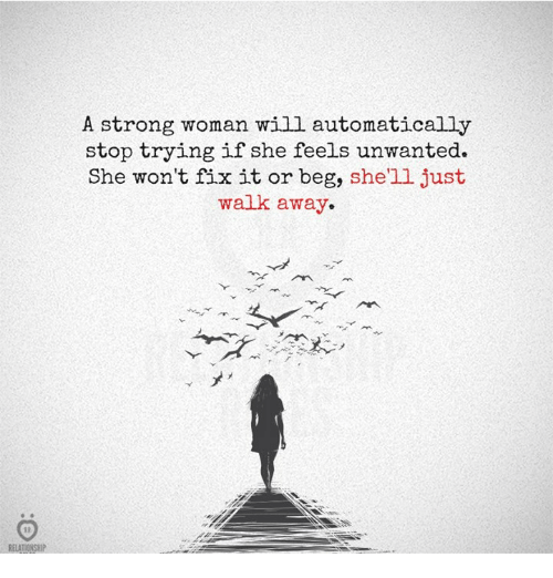 And Strong To Relationship Walk A How Away Be From