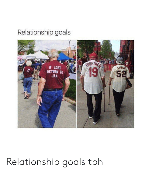 Goals, Tbh, and Lost: Relationship goals  IF LOST  SINC  19  RETURN TO  5  JAN Relationship goals tbh