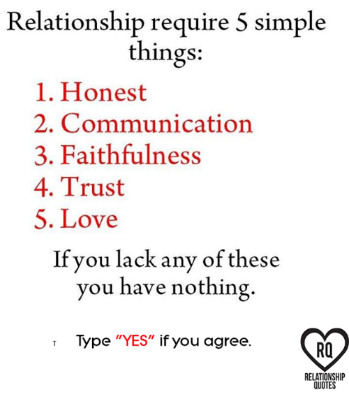 Relationship Require 5 Simple Things 1 Honest 2 Communication 3