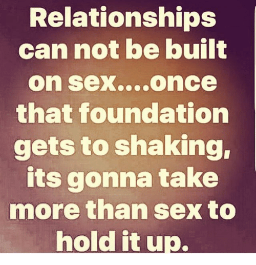 Getting built up for sex