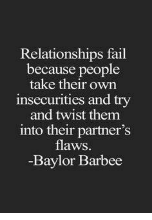 Flaws in a relationship