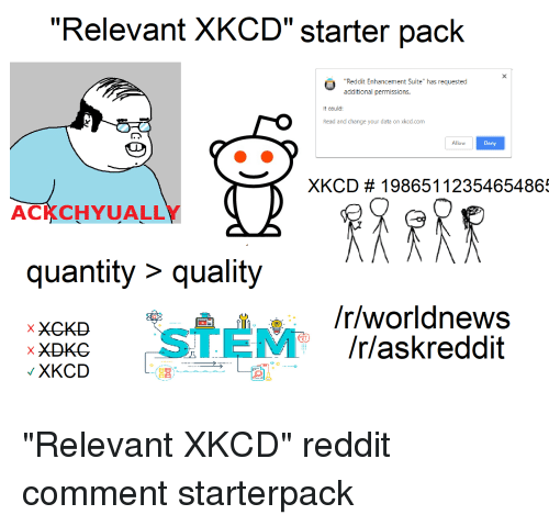 Relevant XKCD Starter Pack It Enhancement Suite Additional