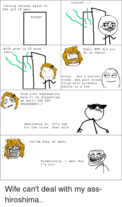 What do you do with a sorry ass wife
