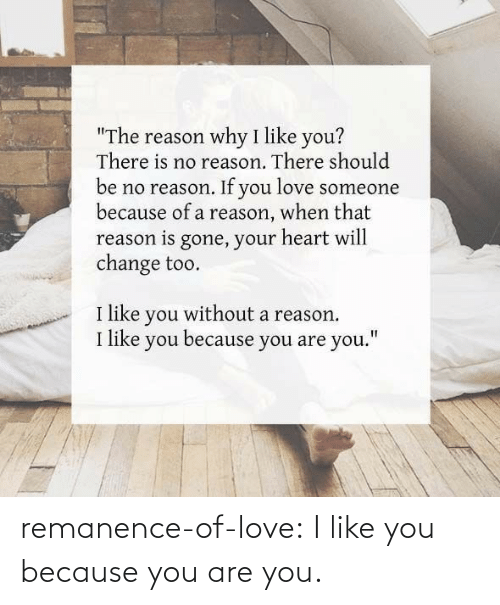 Love, Target, and Tumblr: remanence-of-love:  I like you because you are you.
