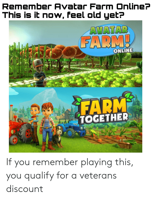 Remember Avatar Farm Online? This Is It Now Feel Old Yet