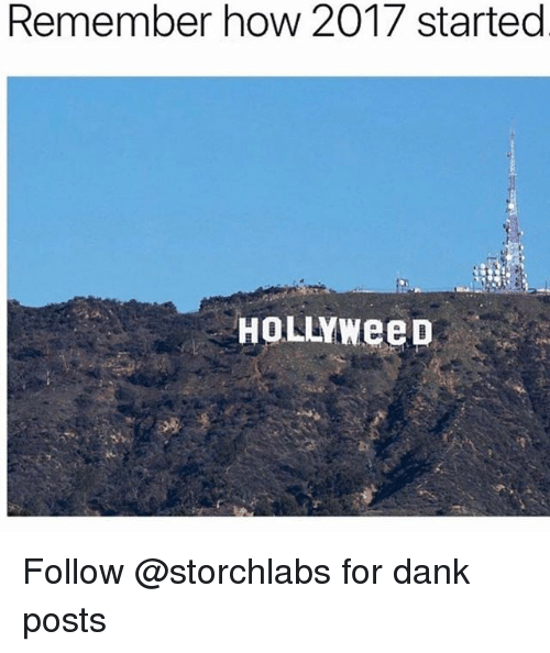 Dank, Trendy, and How: Remember how 2017 started  HOLLYWeeD Follow @storchlabs for dank posts