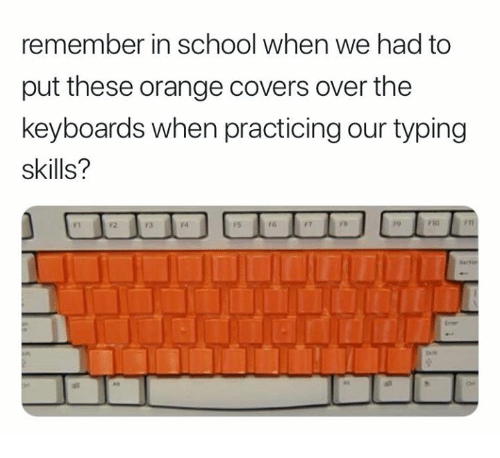 remember in school when we had to put these orange covers over the