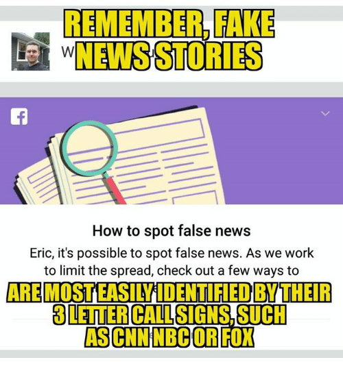 remember rake news stories how to spot false news eric its possible to spot false news as we work to limit the spread check out a few ways to